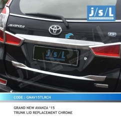 Trunk Lid Grand New Avanza G Luxury Jual Xenia Model Ganti Chrome Krom