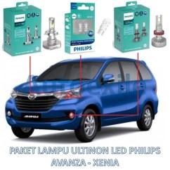 Grand New Avanza Vs Great Xenia Jual Head Unit Veloz Paket Lampu Depan Led Mobil Ultinon Philips H4 T10 H16 6000k Putih