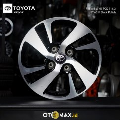 Velg Oem Grand New Veloz Toyota Yaris Trd 2017 Jual Mobil Avanza 1 5 Ring 15 Original Black Polish