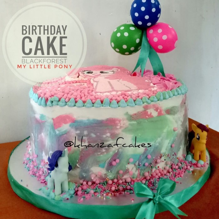 Jual Birthday Cake Blackforest My Little Pony Kab Cirebon