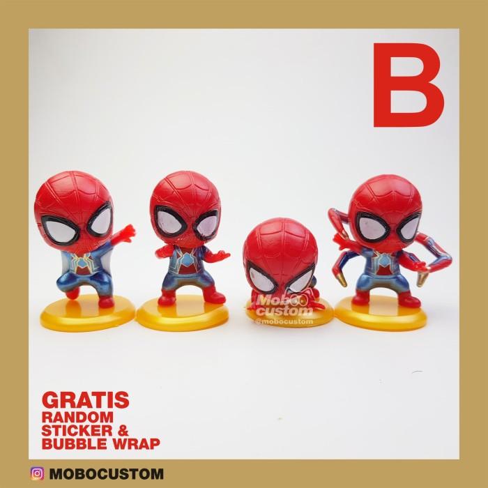 Jual Mainan Anak Figure Spiderman Mini Set B Isi 4 Hiasan Kue Cake