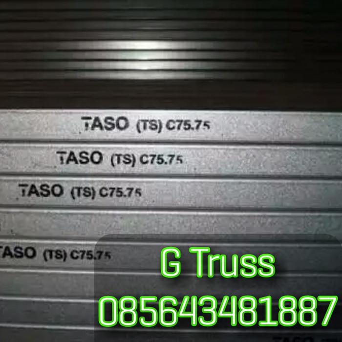 harga baja ringan c75 jual kanal taso 75 kab sleman g truss tokopedia