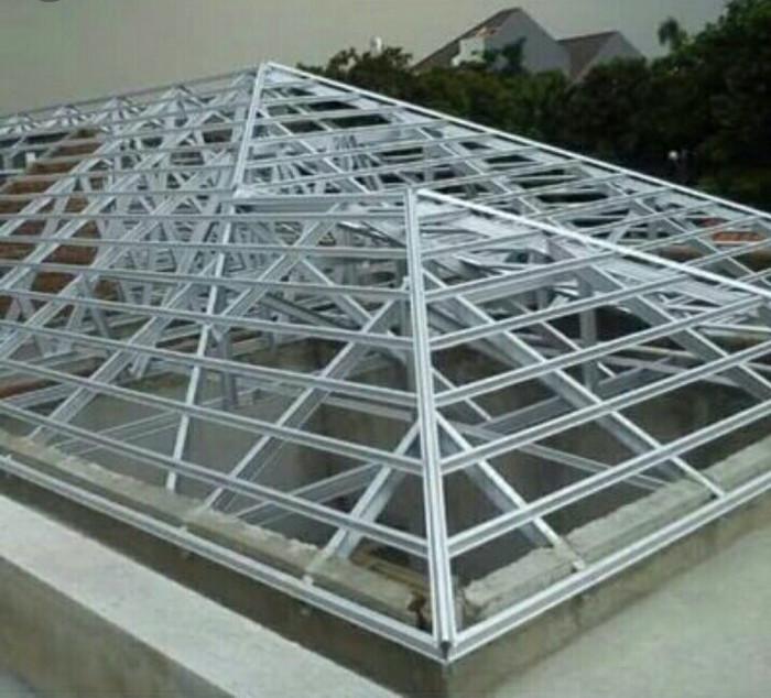 atap baja ringan di pekanbaru jual rangka c 1mm terpasang 082186476051 kota