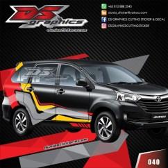 Cutting Sticker Grand New Avanza Toyota Yaris Trd Modif Jual Xenia Grandmax Luxio Ignis Freed Xpander