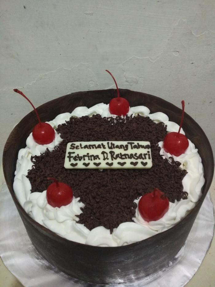 Jual Kue Ulang Tahun Diameter 18cm Black Forest Cake Jakarta