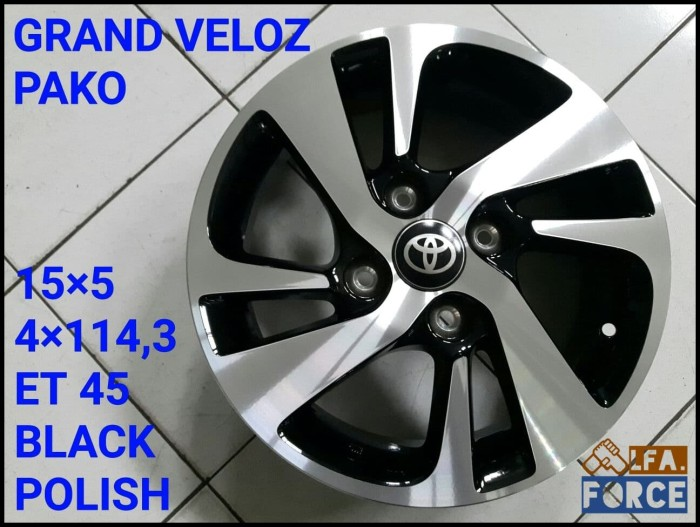 velg oem grand new veloz suspensi jual beli mobil avanza 1 5 ring 15 original black kece termurah r15 import grosir