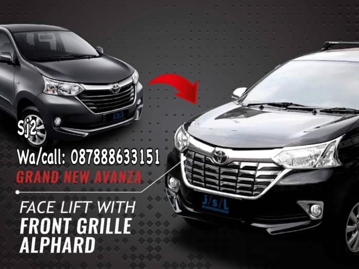cover grill grand new avanza veloz 1.3 2017 jual depan chrome model alpard dan great xenia
