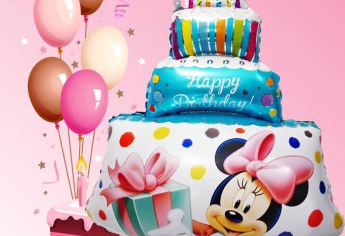Jual Balon Minnie Mouse Balon Happy Birthday Balon Cake Mickey