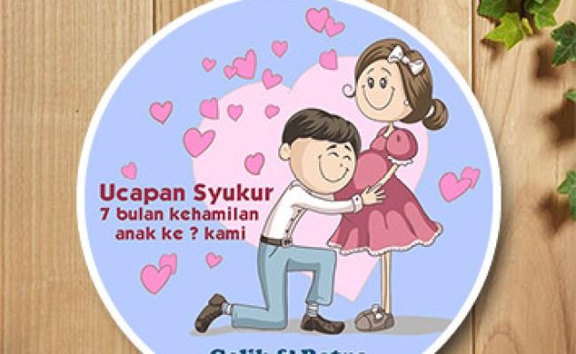 Template Ucapan 7 Bulanan Cute766