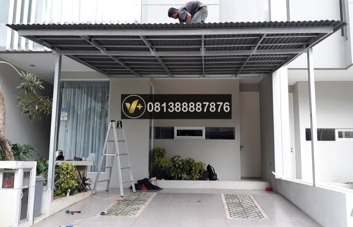 harga kanopi baja ringan jakarta timur jual canopy atap go green