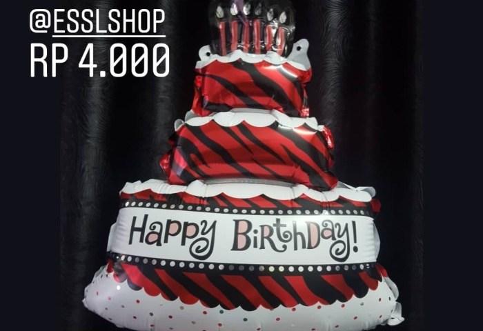 Jual Balon Foil Happy Birthday Cake Mini Balon Hbd Balon Kue Ulang