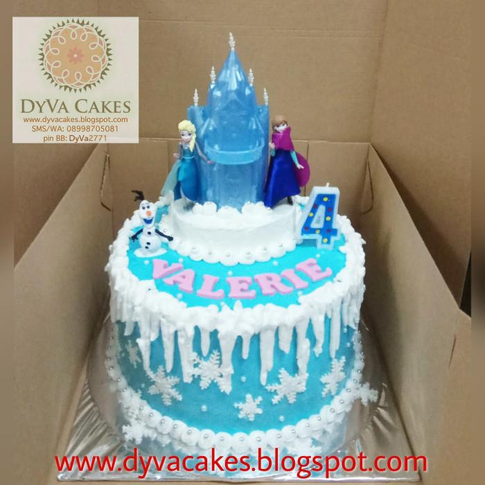 Jual Frozen Elsa Anna Birthday Cake Dia22cm Kota Administrasi