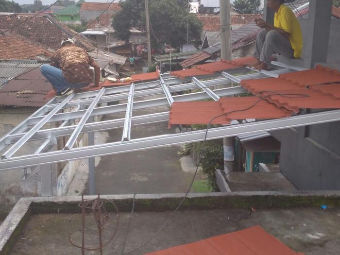 kanopi baja ringan untuk dapur jual bongkar pasang rangka atap dan kota