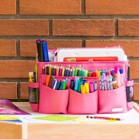 Jual Craft Caddy Organizer Tas Perlengkapan Menggambar Warna Pink Kab Bandung Barat Bags And More Tokopedia
