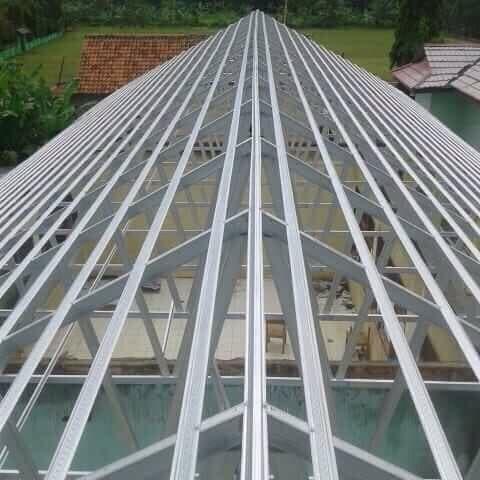 harga baja ringan per meter di semarang jual konstruksi rangka atap dengan murah
