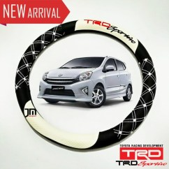 New Toyota Agya Trd Sportivo All Kijang Innova Vs Pajero Sport Jual Sarung Stir Bungkus Setir Mobil Putih