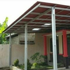 Contoh Kanopi Baja Ringan Atap Spandek Jual Kab Bandung