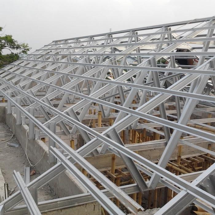 harga rangka atap baja ringan di malang jual pasang galvalum dan batu