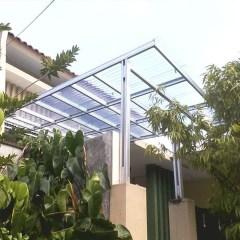 Harga Kanopi Baja Ringan Atap Polycarbonate Jual Model Rangka Single