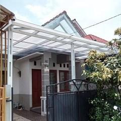 Model Rangka Baja Ringan Kanopi Jual Double Box Atap Polycarbonate