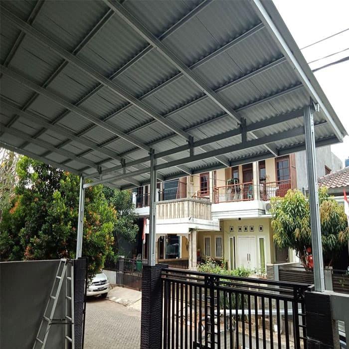 kanopi baja ringan untuk dapur jual model rangka double box atap alderon rs