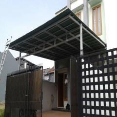Model Rangka Baja Ringan Kanopi Jual Double Box Atap Onduline