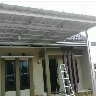 kanopi baja ringan kebumen jual atap spandek tiang double kota tangerang