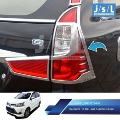 Aksesoris Grand New Avanza 2015 All 2016 Beli Mobil Xenia Tail Lamp Garnish Lampu