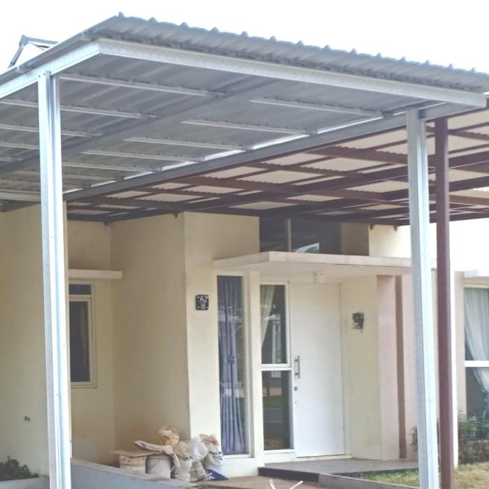 harga besi baja ringan untuk kanopi jual atap spandex minimalis tiang double