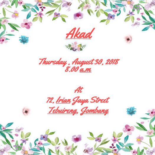 Undangan E Invitation Wedding