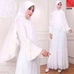 caa0cfae738 Jual Baju Gamis Putih Gamis Umroh Baju Manasik Baju Haji Busana