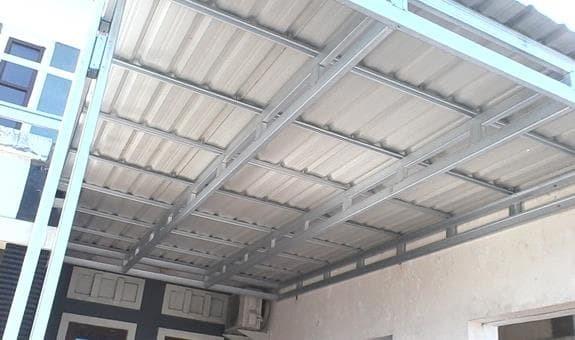 harga kanopi baja ringan atap spandek jual kab tangerang medles
