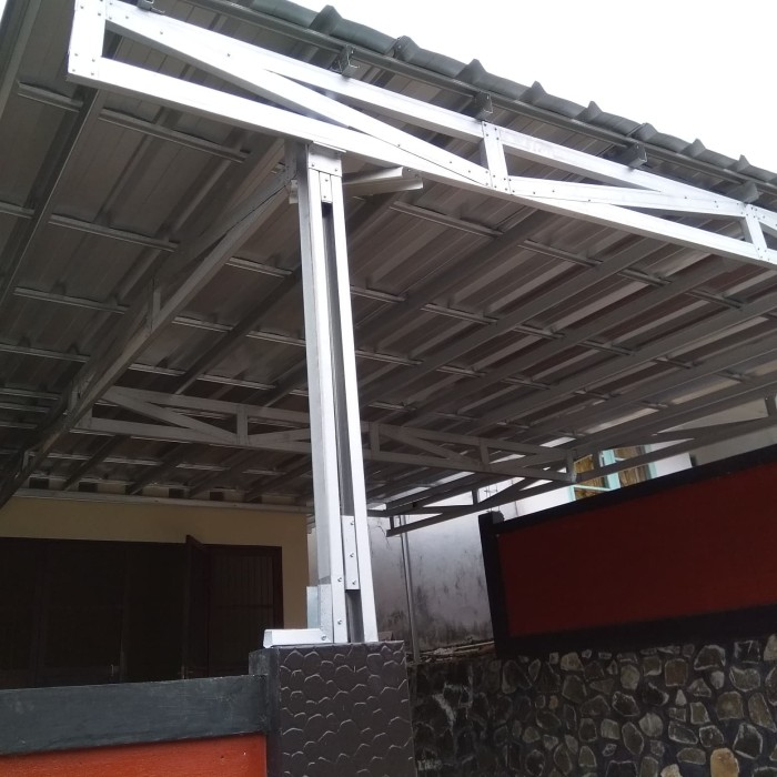 harga kanopi baja ringan atap spandek jual pemasangan kab lebak