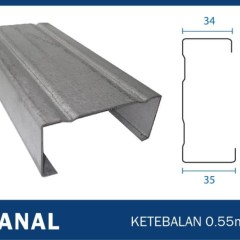 Tebal Reng Baja Ringan Jual Canal C Truss Full 0 55 Kab Tangerang