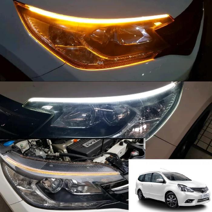 headlamp grand new avanza pakai premium jual lampu strip running turning led with sein