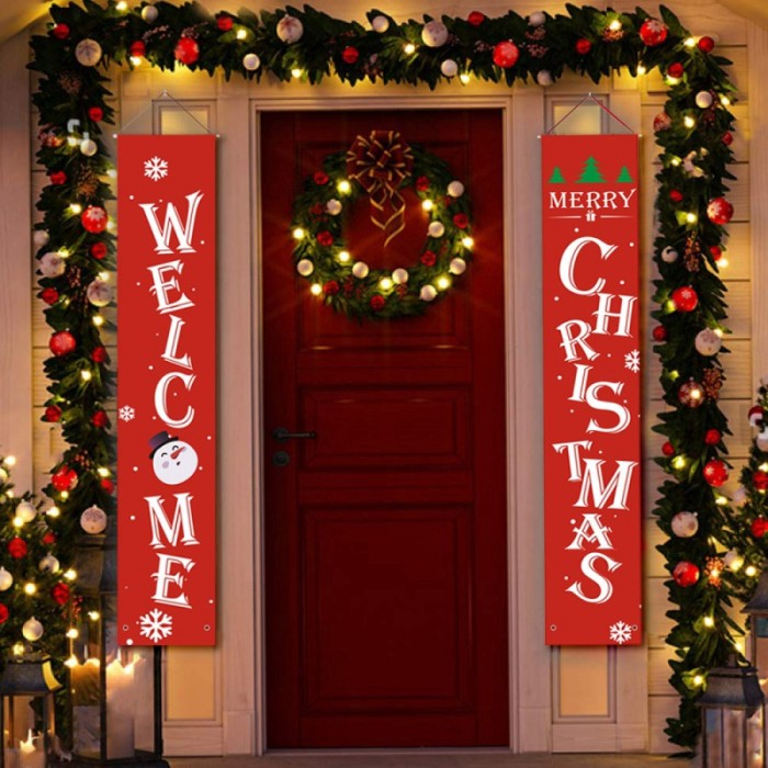 Jual Merry Christmas Decorations Hanging Banner Hanging Sign For Indoor Jakarta Utara Jujuwlstore Tokopedia