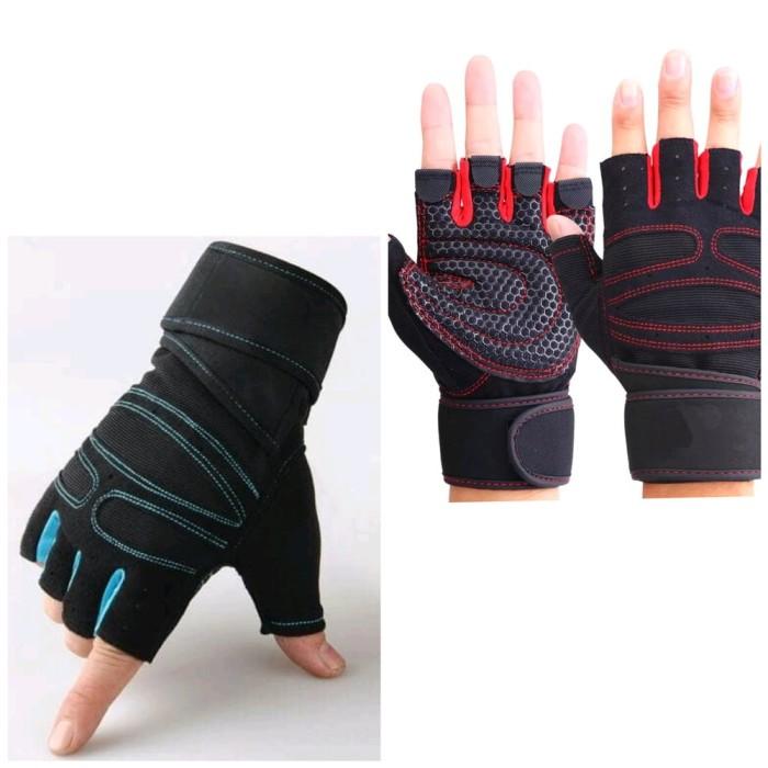Jual Sarung Tangan Fitness Gym Gloves Lifting Glove Pria Wanita Kota Surabaya Deewiishop Tokopedia