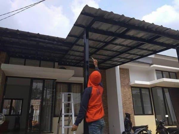 harga baja ringan murah di tangerang jual pemasangan kanopi atap spandek cibinong