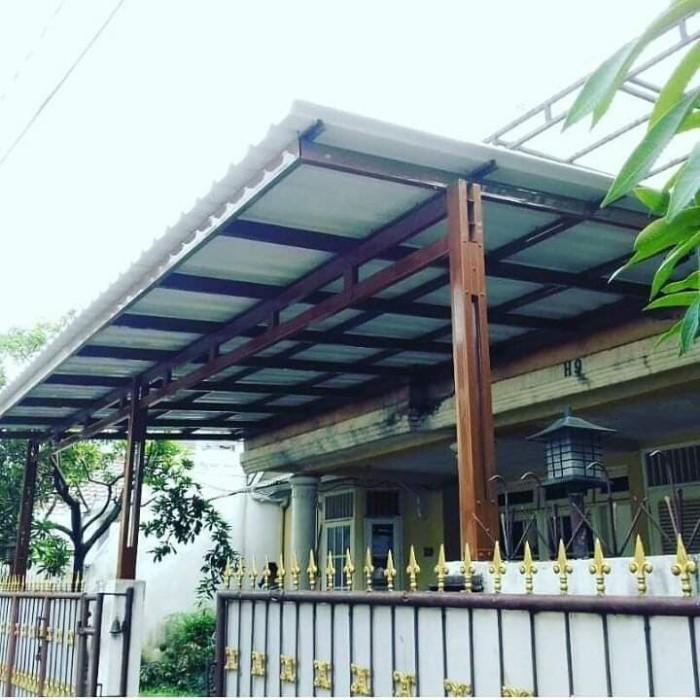 canopy baja ringan minimalis jual kanopi kab bekasi cahaya truss