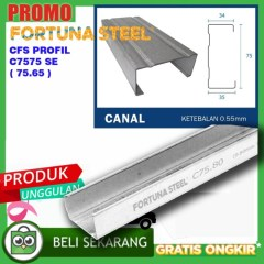Harga Baja Ringan Merk Jual Fortuna Steel Canal C Profil C75 X 0 75mm Kab
