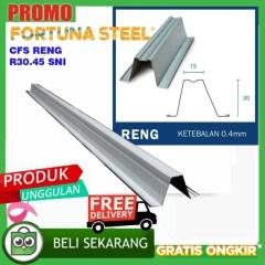 Tebal Reng Baja Ringan Jual Fortuna Steel Batten Roff R30 45 Sni