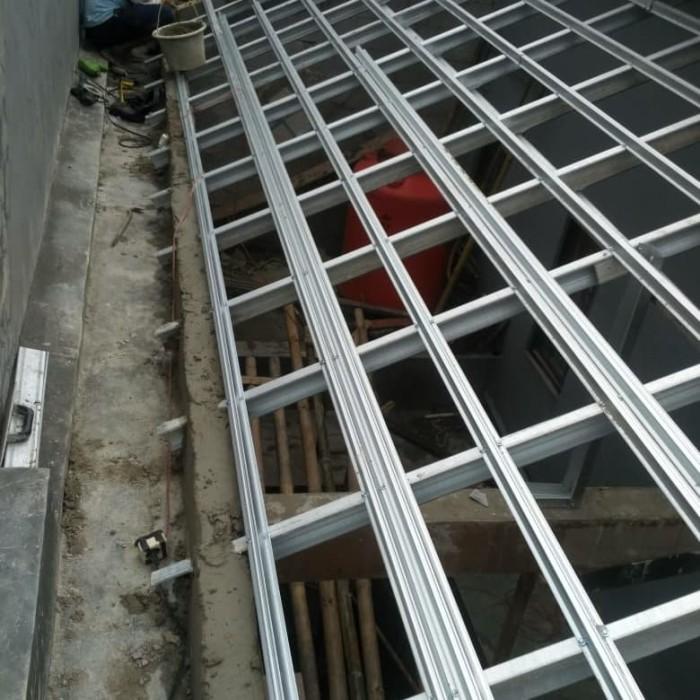 rangka baja ringan untuk atap asbes jual bahan dan jasa pemasangan canopy spandex