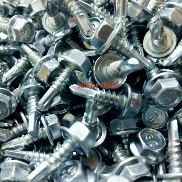 alat baut roofing jual skrup baja ringan 10 x 19 putih kunci 8 3 4