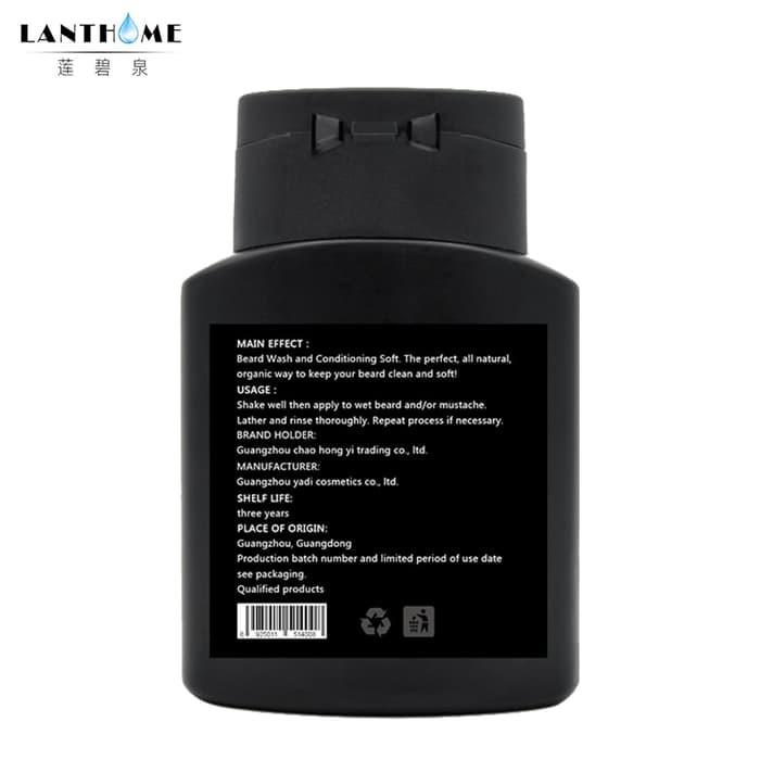 Jual 2pcs Organic Beard Wash Hair Shampoo Natural Argan Oil