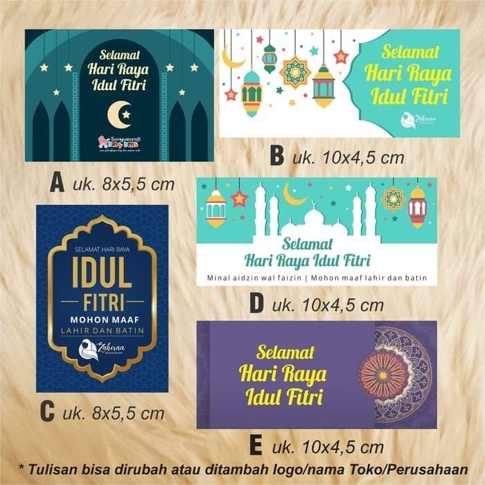 Jual Stiker Kartu Ucapan Label Hadiah Parcel Ramadhan Hari Raya
