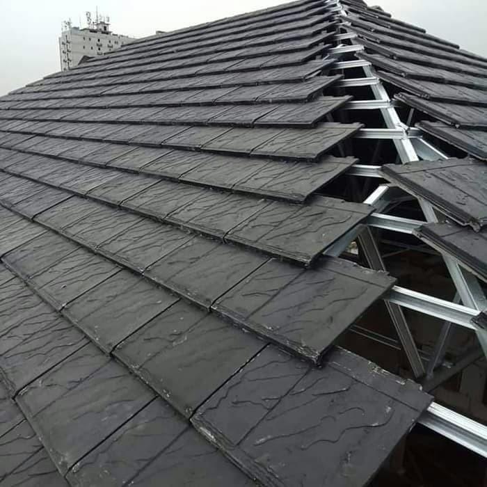 harga atap baja ringan dan genteng beton jual pemasangan rangka 0 75 plat
