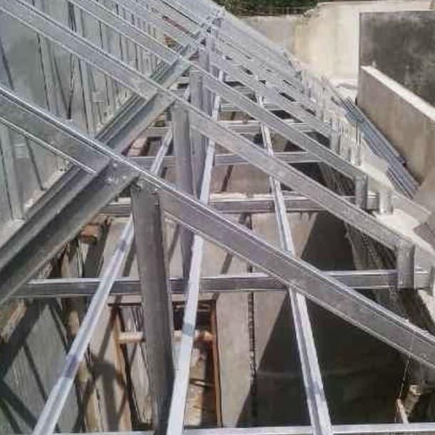 konstruksi baja ringan rumah minimalis jual model atap kota padang global