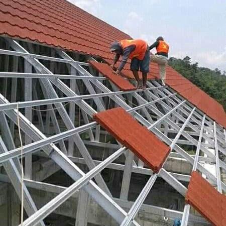 baja ringan rangka gording reng genteng metal bandung jawa barat jual atap dan berkualitas kab bekasi