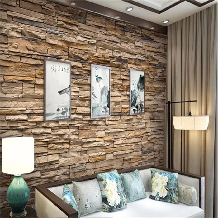 Jual Beibehang Flooring Wallpaper For Living Room Tv Background Hd Stone Jakarta Barat Serba Ada Shop Tokopedia