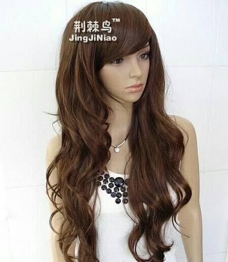 Jual Wig Long Hair Curly Natural Jakarta Barat Toko Mutyara
